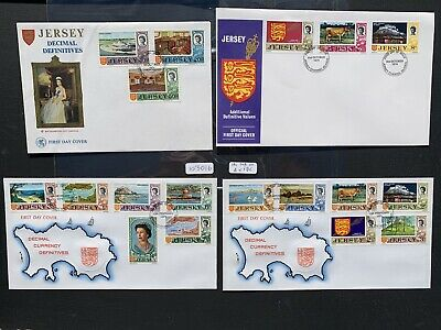 Jersey 1970-74 Definitives Decimal (18v Set On 4x FDC's (103016)