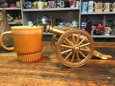 BRT Vintage Solid Cast Metal Old Military Cannon (610 grams)