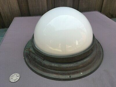 Vintage RAILWAY Carriage DOME LAMP, Light Fitting, Copper? Brass?-Victorian? VR?