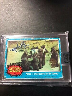 2018 Topps Star Wars Archives Signature Series - Rusty Goffe as Jawas 6/9 Auto