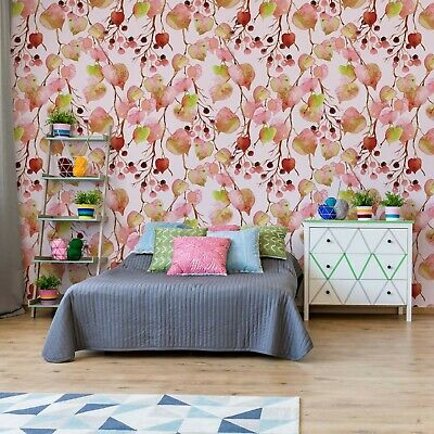 Modern Flamingo Tropical Pattern Photo Wall Mural Fleece EasyInstall Paper