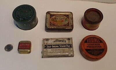 Vintage Advertising Tins, Lot of 6, Assorted Small Tins