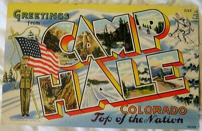 Estate Sale ~ Vintage Large Letter Postcard - Greetings from Camp Hale Colorado