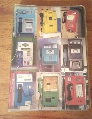 """Unique """"Vintage Looking"""" Personal Phone/Address Book Featuring Old Phones"""