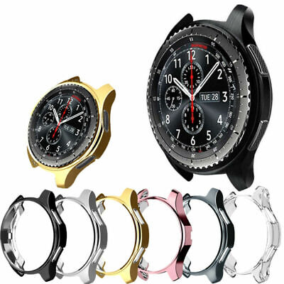 For Samsung Galaxy Watch Soft TPU Bumper Case Cover Screen Protector 42mm/46mm