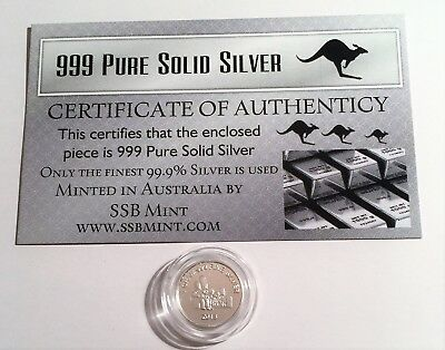 "New 2013 ""The Simpsons"" 1 Gram 999.0 Pure Silver Bullion Coin (Great Investment)"