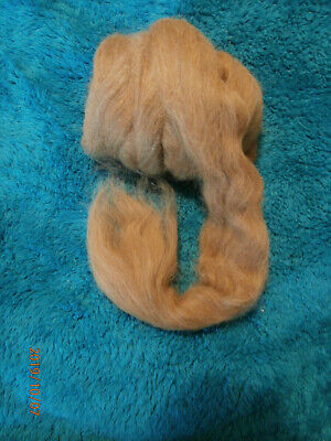 200g Fine Alpaca Light Brown Tops suitable for spinning & felting