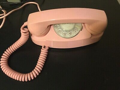 Early 1960 Western Electric Pink Princess Rotary Phone Ringer Box & power