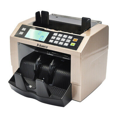 Money Bill Counter Currency Counting Machine UV MG Counterfeit Detector NEW K7J8