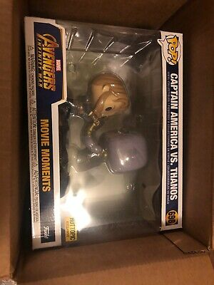 Funko Pop! Captain America Vs. Thanos #698 Hot Topic Exclusive Movie Moments