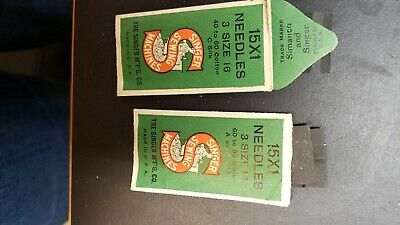 Vtg Singer Sewing Machine Needles Size 14 And 16 Three To Package