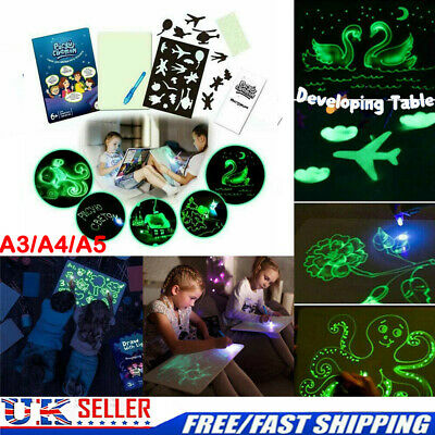 Draw With Light Drawing A5 Board Fun Developing Toy Kids Educational Magic Paint