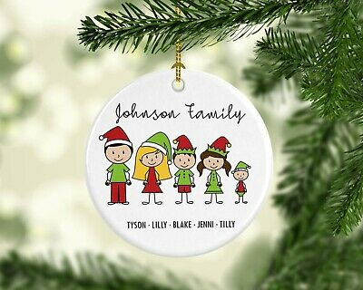 Personalised Custom Christmas Tree Hanging Ceramic Ornament Family Gift Unique