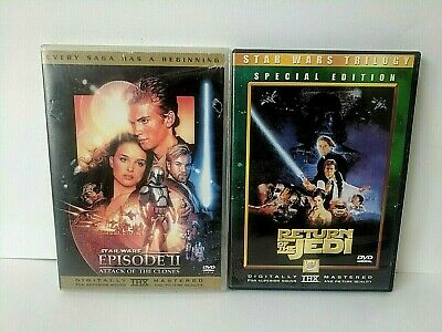 Star Wars - Return Of The Jedi + Ep2 - Attack Of The Clones Dvd
