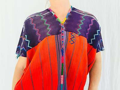 Vintage Guatemalan Huipil. Zacualpa. Hand-Woven & Embroidered