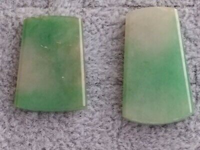 Natural Jadeite Type A Untreated Jade Pendant size 26x15.6x2.9mm 21.2x15.6x2.9mm