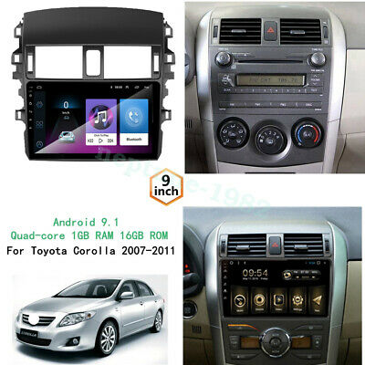Android 9.1 1Din-For-Toyota-Corolla-2007-2008-2009-2010-2011-Car-DVD-Radio-GPS