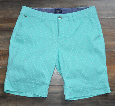 US Polo Assn Ladies Mint Chinos Chino Shorts Floral US 10 UK 14 Summer Holiday