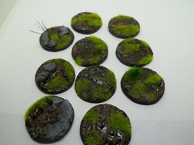 10 x 32 mm Muddy Ground resin bases for warhammer ,roleplaying, minatures