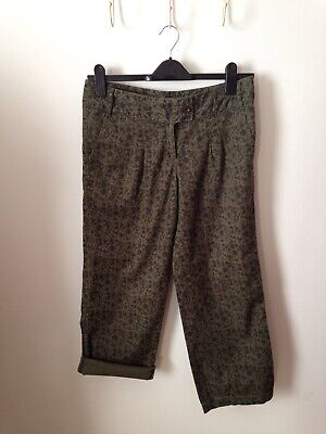 next cropped trousers size 12r Green floral J62