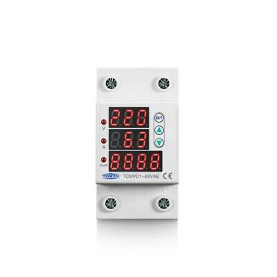 63A 230V 3IN1 Display Din rail adjustable over and under voltage protective