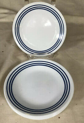 """Corelle Made in U.S.A. Set of 12 Classic Cafe Blue 6 3/4"""" Bread Plates - Unused!"""