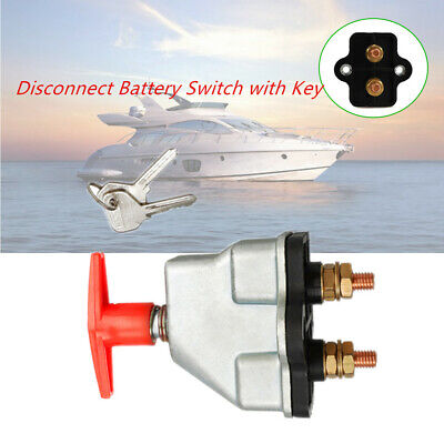 250A Disconnect Battery Isolator Cut Off Kill Switch w/ Key For Car Marine Boat