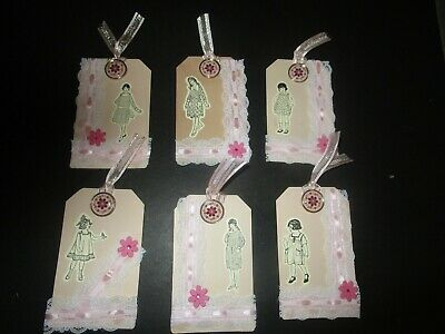 Journal  Items    Embellishments  6 Tags Lace & Flowers