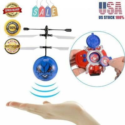 RC Cracked Crystal Flying Ball Induction Helicopter Infrared Sensor Toy US EI
