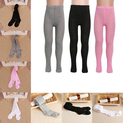 Girl Kids Slim Knitted Cotton Hosiery Pants Stockings Pantyhose Sock Tights Pink