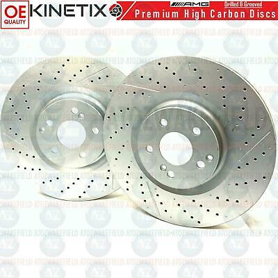 FOR MERCEDES E63 AMG FRONT CROSS DRILLED HIGH CARBON PREMIUM BRAKE DISCS 360mm