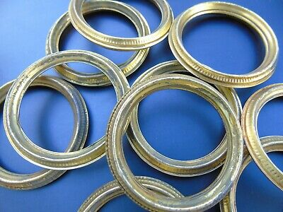 FRENCH VINTAGE CURTAIN RINGS BEAUTIFUL ANTIQUE TOLEWARE METAL GILT BRASS 10pcs