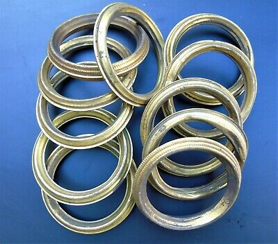 FRENCH VINTAGE CURTAIN RINGS 11pcs BEAUTIFUL ANTIQUE TOLEWARE METAL GILT BRASS