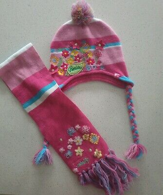 Cute Girls Barbie Scarf and Beanie Set