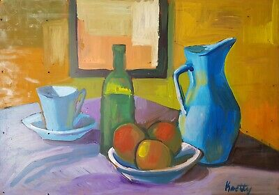 Still life Janos Kmetty (1889 - 1975)? oil on board