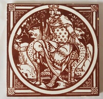 19TH CENTURY KING canute emglish history moyr-smith minton TILE