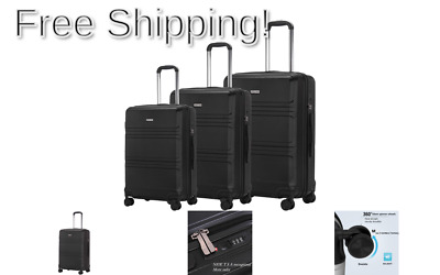 Luggage Set 3 Piece Suitcase ABS Trolley Spinner Hardshell Lightweight Suitca...