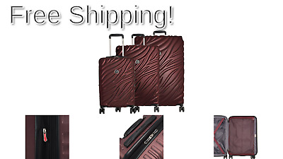 Delsey Paris Alexis 3-Piece Lightweight Luggage Set Hardside Spinner Suitcase...