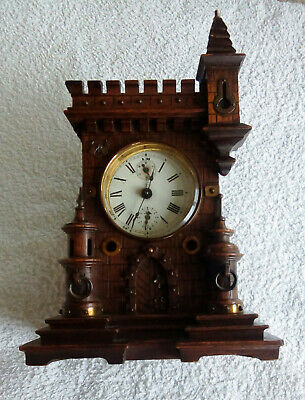 Antique Black Forest Clock, Gothic Style for Restoration JUNGHANS Movement
