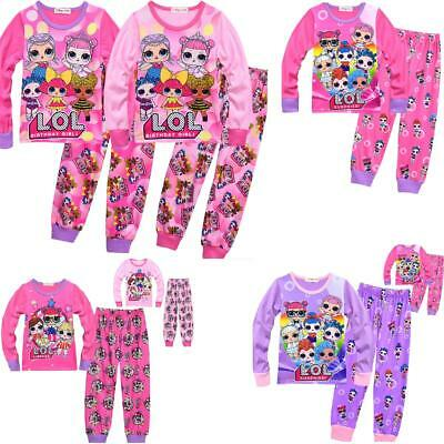 lol surprise dolls Game Girls  Pyjamas Nightwear thsirts pants trouser sets gift