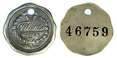 Filene's   Boston, Ma   Before 1927   Credit Charge Coin    Tyl # Ma-115-Fila
