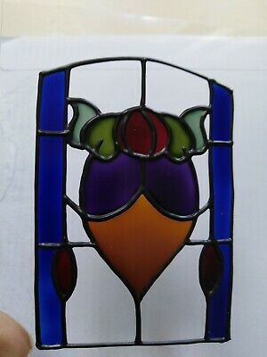 3 x Hand painted sun catcher.  Stained glass style. Art Nouveau