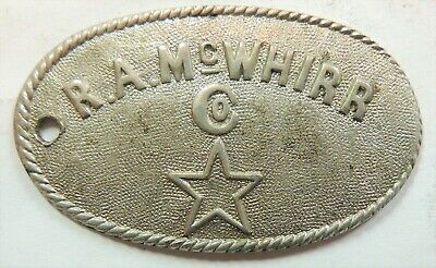 McWHIRR  CO.,  R.  A.  MA, Fall River  CHARGE COIN  TYL  MA-260-WHIA