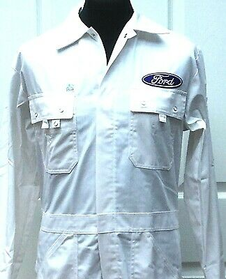 """Superb Quality Goodwood Revival Vintage Retro Ford Badged Overalls 36-38"""" Chest"""