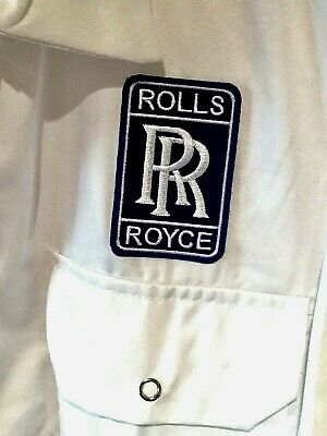 """Superb Goodwood Revival Classic Vintage Rolls Royce Badged Overalls 50"""" Chest"""