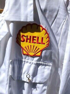 """Rare Fine Goodwood Revival Vintage Retro Style Shell Badged Overalls 50"""" Chest"""