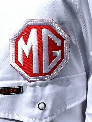 """Rare Fine Goodwood Revival Vintage Style MG Badged Overalls 50"""" Chest MGB MIDGET"""