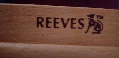 Reeves Cambridge Wooden Table Top Adjustable Easel & Artist Storage Box A4