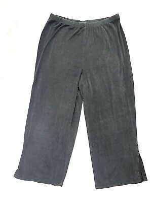 Chico's Travelers Womens Pants Capris Black Slinky Knit Pull On Size 3