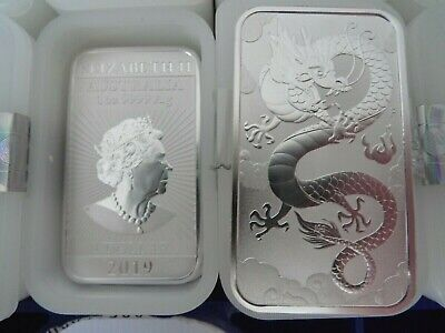 New 2019 Lucky Dragon 1oz silver bars, full tube 20 Troy ounces pure 9999 silver
